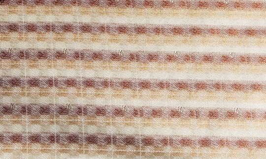 scialle pura seta oro, marrone, panna - righe, disegno 200178