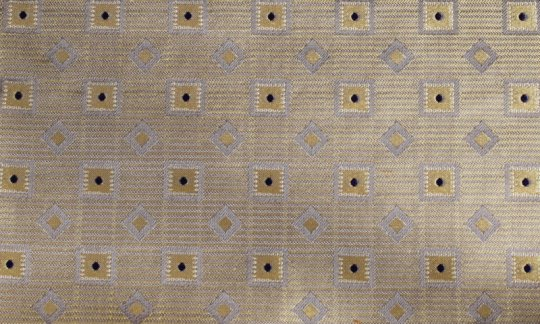 scialle pura seta giallo, argento, blu marino, grigio - quadretti, disegno 200182