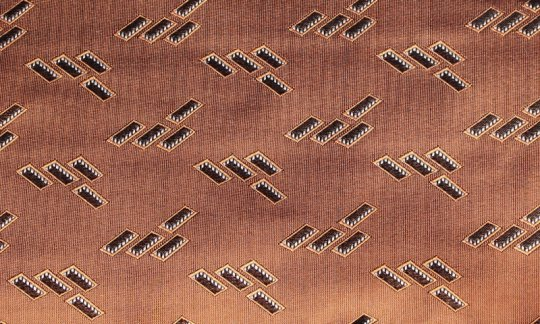 fascia da smoking marrone, terracotta - fantasia, disegno 200184