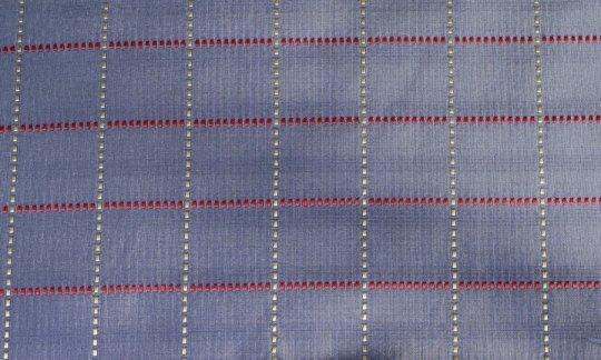 cravatta rosso, giallo, argento, azzurro, grigio - quadretti, disegno 200201