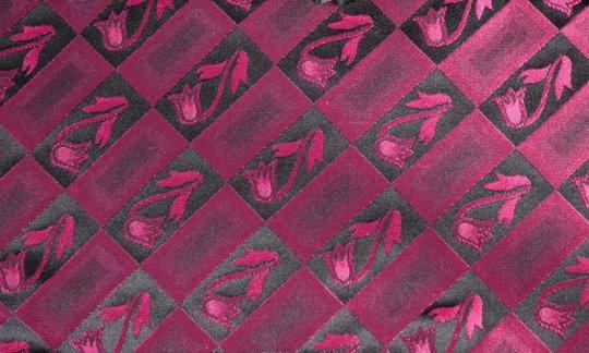 scialle pura seta rosso, rosso vino - fiori, disegno 200211