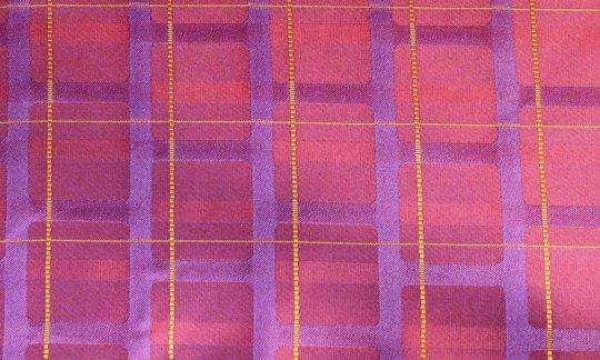 fazzoletto da taschino rosso, giallo, viola, rosso vino, ametista - righe, disegno 200212