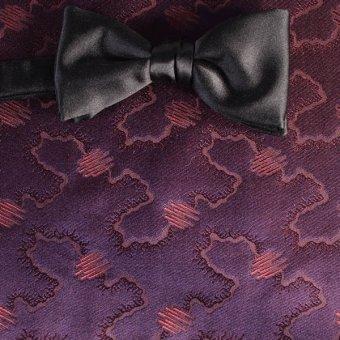 farfalla-papillon rosso vino, ametista - tonalità simili, disegno 200215
