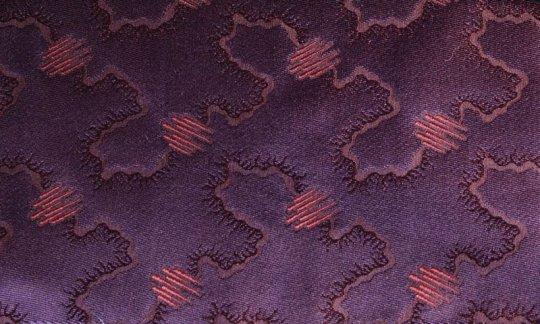 fazzoletto da taschino rosso vino, ametista - tonalità simili, disegno 200215