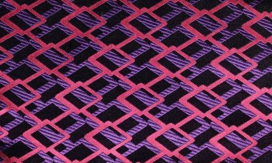 fazzoletto da taschino rosso, viola, nero, ametista - quadretti, disegno 200216