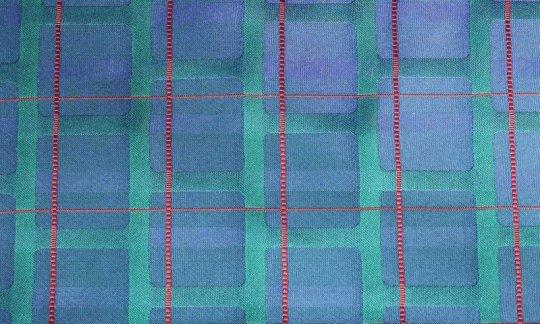 scialle pura seta rosso, verde, azzurro - fantasia, disegno 200223