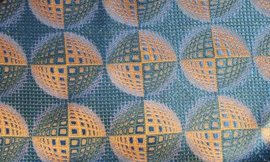 plastron giallo, verde, azzurro - fantasia, disegno 200225
