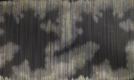 fazzoletto da taschino verde, oro - fantasia, disegno 200228