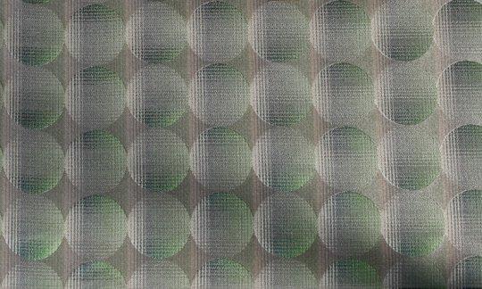 plastron verde, argento, oro, panna - puntini, disegno 200234