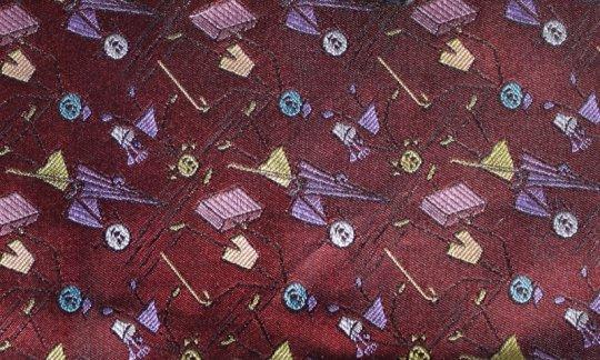 cravatta viola, rosso vino, rosa - fiori, disegno 200240