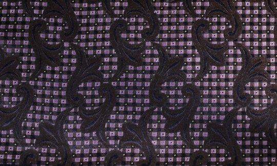 fazzoletto da taschino nero, marrone, rosa - fiori, disegno 200242