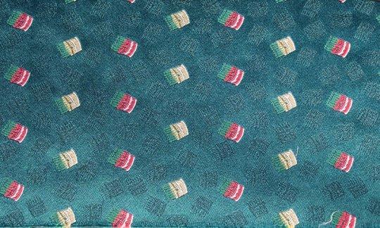 fazzoletto da taschino rosso, giallo, verde, turchese - fantasia, disegno 200247