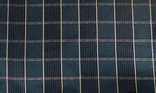 fazzoletto da taschino oro, azzurro, blu marino - quadretti, disegno 200249