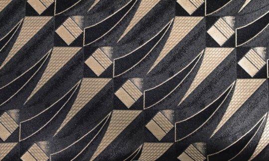 fazzoletto da taschino oro, nero - fantasia, disegno 200254
