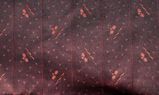 fazzoletto da taschino blu marino, rosso vino - fantasia, disegno 200264