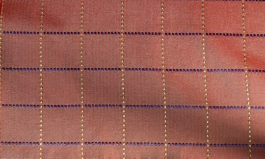 plastron rosso, oro, nero - quadretti, disegno 200268