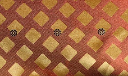 cravatta terracotta, azzurro - quadretti, disegno 200269