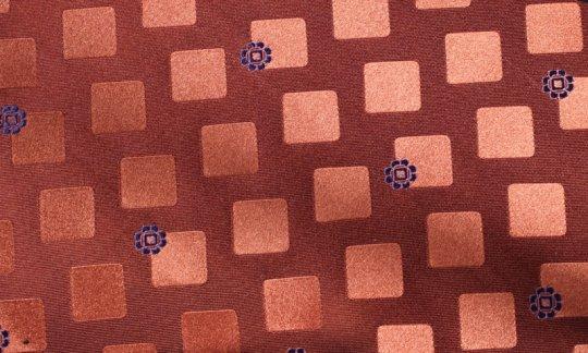 plastron giallo, blu marino, arancione - quadretti, disegno 200270