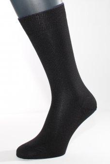 Calzini invernali di seta con cotone e cashmere - nero