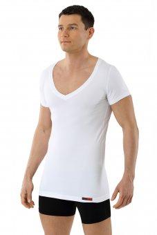 Maglietta Intima Deep V Tessuto Tecnico Coolmax Bianco