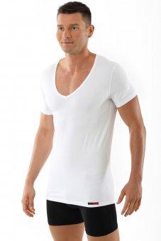 "Maglietta intima ""Hamburg"" con scollatura a V extra profonda ""deep-v-neck-shirt"" bianca"