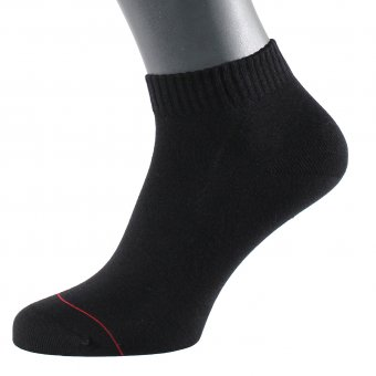 Calzini corti neri con filo d'argento