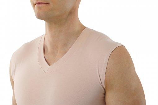 bdbd27ce52e27a Maglietta intima senza maniche con scollatura a V