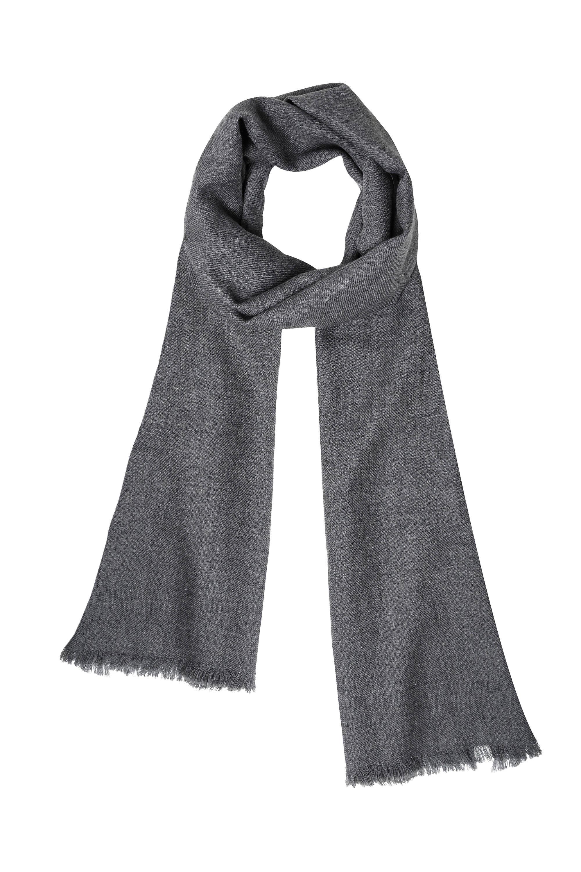 2ec331f138850b Sciarpa lana cashmere da donna e uomo color grigio 200 x 65 cm ...