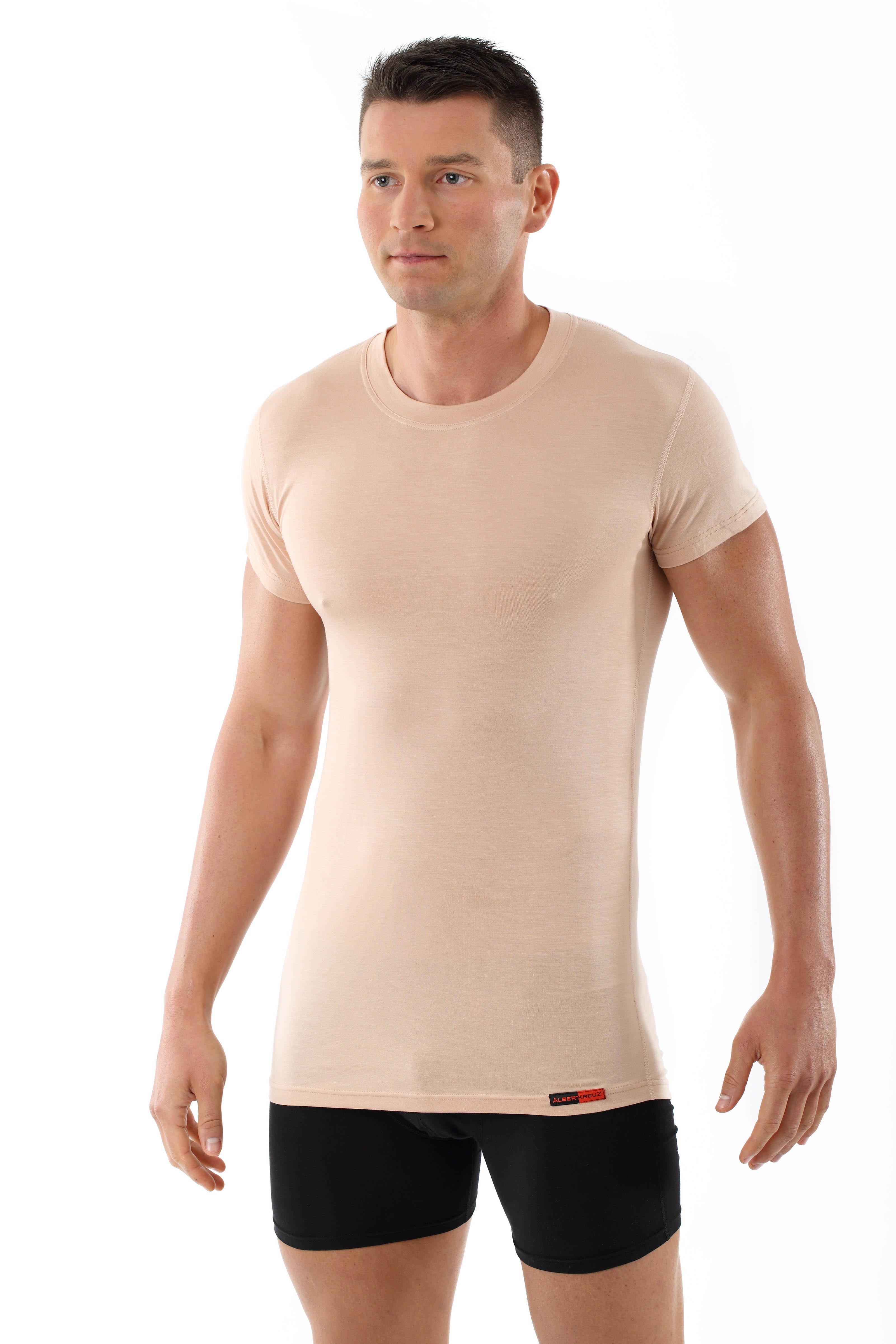 Maglietta intima da uomo scollo rotondo con mezza manica - Costumi da bagno con maglietta ...